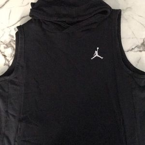 Sleeveless Jordan hooded sweatshirt